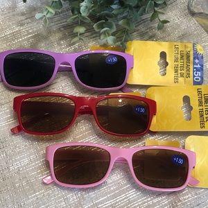 +1.50 Reading glasses NEW set of 3/beach pool wear